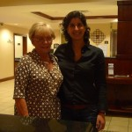 With Bonnie Capelle at StayBridge Hotel after performance at Denver Colorado USA, May 2011